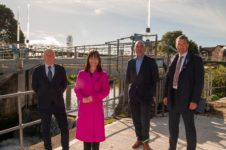 Paddy Harney, Minister Nicola Mallon, Niall McGill, Owen McGivern
